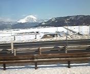 米原はやはり雪だった